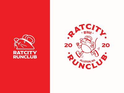 Run Club Logo vector branding logo character design design illustration