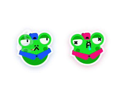 🐸  Stickers character design stickers illustration