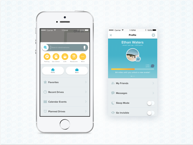 Waze Redesign UI by James Park on Dribbble