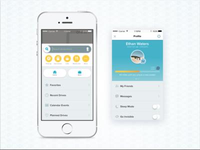 Waze Redesign UI visual design app design ux ui redesign waze