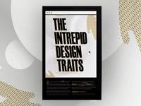 Intrepid Design Traits Manifesto