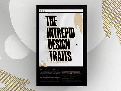 Intrepid Design Traits Manifesto illustration poster design team culture design team