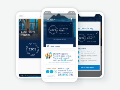 Hotel Digital Key App line hotel ux ui