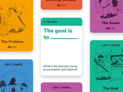 Crit Cards design team framework character design illustration product design design