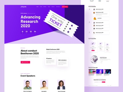 Tech keynote 2020 trend ux ui book website ticket concert party festive music tech business conference joomla template event
