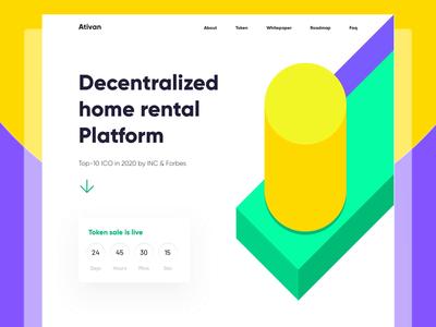 Rental Platform landing page