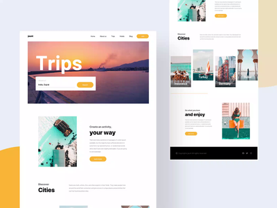 Travel agecy visual experiement landing page trend 2020 book cities framework brand bootstrap website minimal trips video header travelling agency travel