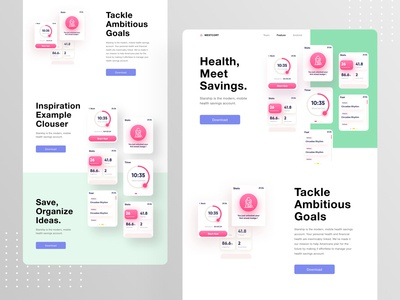 westcort Watch app landing page visual solver problem interface experience user designer minimal modern 2020 trends ux ui features product landing android ios app watch