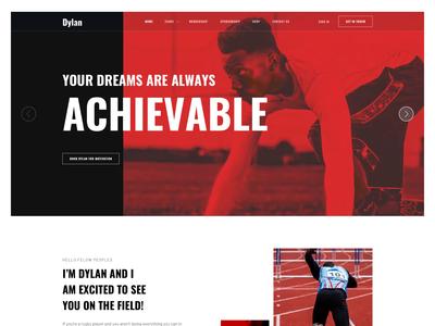 Joomla Template for Athlete, Portfolio and Sport web design animation landing page joomla designs make sport portfolio athlete website design ux ui joomshaper template joomla