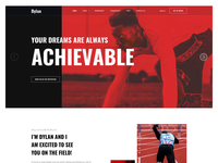Joomla Template for Athlete, Portfolio and Sport web design animation landing page joomla designs make sport portfolio athlete website design ux ui joomshaper template joomla