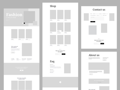 Fashion layout pack Bundle ux uiux accordion faq form opt-in minimal modern joomla sp builder page e-commerce wireframe branding web design template web-design