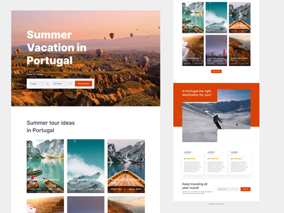 Travel Guide Website Concept redesign web concept travel interaction hire ux ui web design product design animation