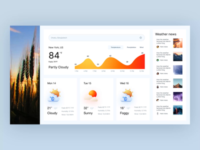 weather ux ui clean modern interface design application update weather dashboard web-app figma uidesign
