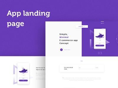 App landing Page web page creative landing page free psd landing page
