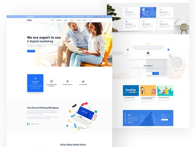 Digital marketing Home page Concept