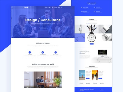 Insane graphic-designer hire business consultancy corporate landing-page psd design scree apps android ios