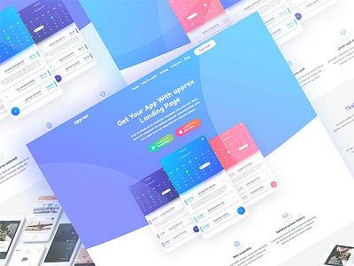 Apprex - App Landing page Template responsive html5 theme template web app dashboard e-commerce