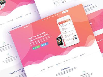 Apprex - App Landing page Template web-design provider service business hosting domain responsive html5 theme template web app
