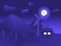 Desert windmill