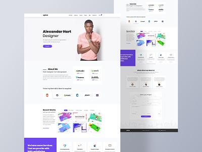 Personal Website icon typography branding design landing page graphic designer vector illustration ui ux web design