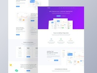 Web app one-page template
