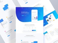 Apps Landing page template