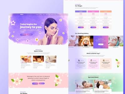 Spa Web-Homepage