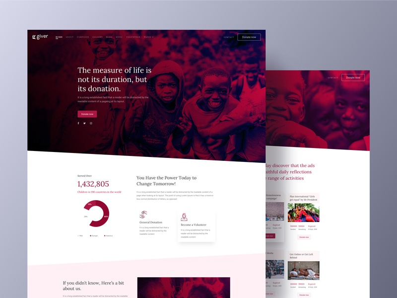Giver ngo campaign poor sp-page-builder joomshaper joomla template charity donation giver design ui ux web design
