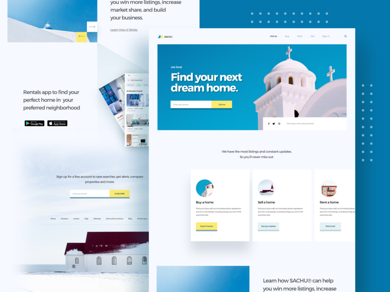 Real estate agent home page design agent sell buy rent house visual hire minimal header design website theme template realestate graphic designer landing page ui ux e-commerce web design