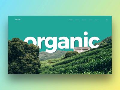 Tea manufacturer web concept