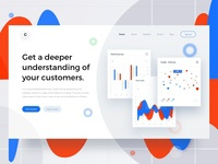 Product analytics landing page