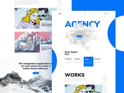 Agency Home-page Concept [ Free Download ]
