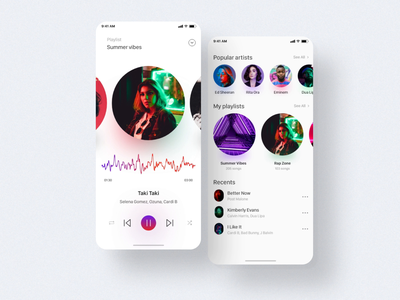 iOS Apps Music Interface prototype interactive usability interface ios experience user apps design