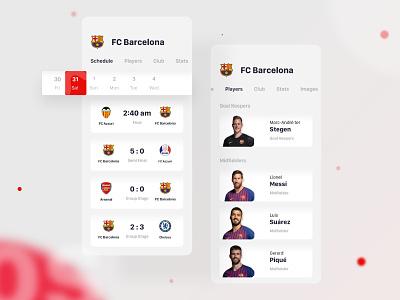 Sports iOS App interface ui ux designer hire messi barcelona website match team profile player design football game sports interface apps ios8 ios7 ios