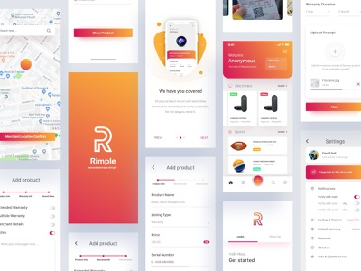 Warranty & Returns Tracker iOS App Concept protocol logo e-commerce app graphic designer ux animation illustration landing page e-commerce apps design screen apps