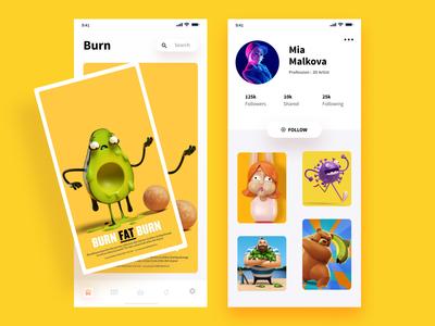 Artist iOS app concept experience centered user graphic designer artistic business ux ui android design mobile profile portfolio artist ios app ios