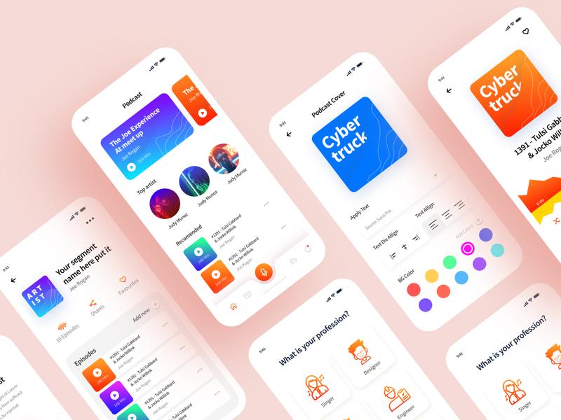 iOS Podcast app screen concept