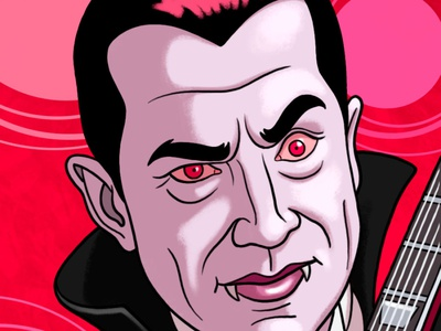 Zox Dracula wristband halloween monster character photoshop illustration