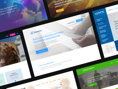 Website collecion 2016 – 2019 illustration website abramov ui webdesign landing page ux icon design web