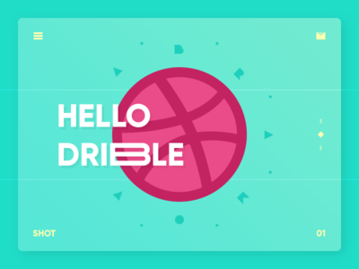 First hello debut first dribbble