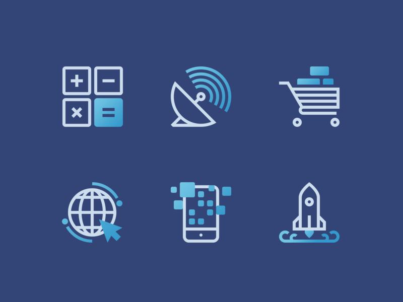 IT Icons Set iconography icon design icon set mobile web banking communication startup ecommerce it digital icon