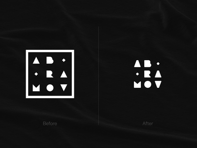 Logo for Me. Before/After logodesign designer logo lettering brand after before logotype abramov logo