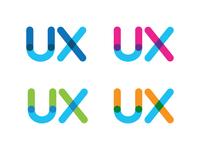 UX Venn Logo Concept - Persistent Blue