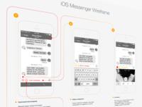 iOS Messenger Wireframe