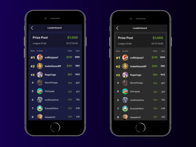 eSports Gaming Leaderboard dark team stats mobile league tournament data dark mode typogaphy concept app design ux app clean game design ui game leaderboard gaming esports