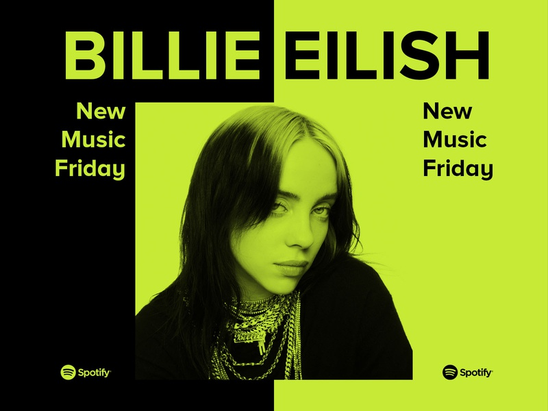 Billie Eilish New Music Friday daily design artist minimal concept bold graphic design design billie eilish neon typogaphy type logo music editorial colors branding duotone spotify