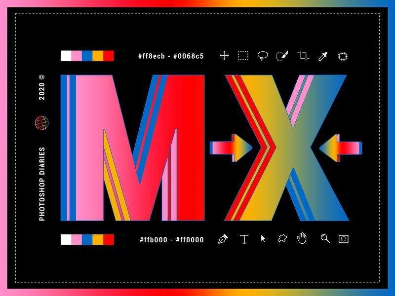 DESIGN TO THE MX colors music daily design experimental website design creative direction typography type dark ui gradient photoshop clean branding concept editorial graphicdesign design mx