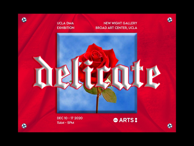 Delicate typeface creative direction photoshop editorial graphic design gallery exhibition poster experimental texture red rose simple minimal design concept clean branding print typography