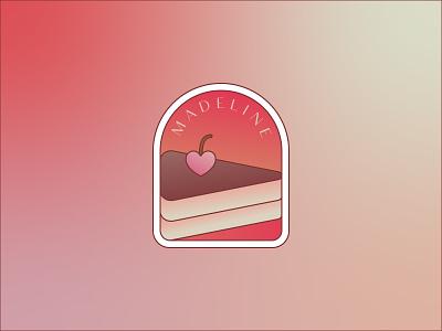 WIP logo for a patissiere logodesign sweet idenity branding logo design madeline cherry heart cake colorful logo