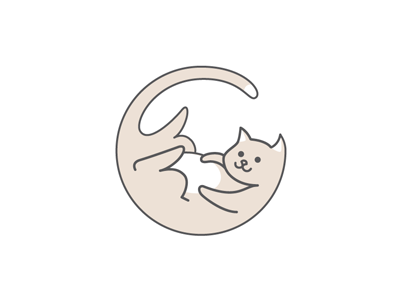 Logo for a pet shop fatty pet logo cat